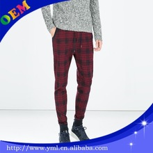 Fashion men red plaid pants pants 2013