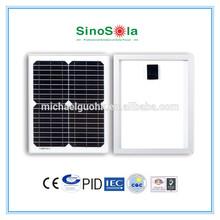 15 watt solar panel made of high efficiency crystalline silicon cell