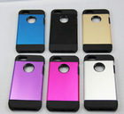 new luxury styles hybrid slim armor case TPU and aluminum case for 5 5S
