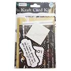 Kraft handmade wedding invitation card kit