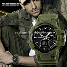 Analog digit Silicone sports electronic dual time watch