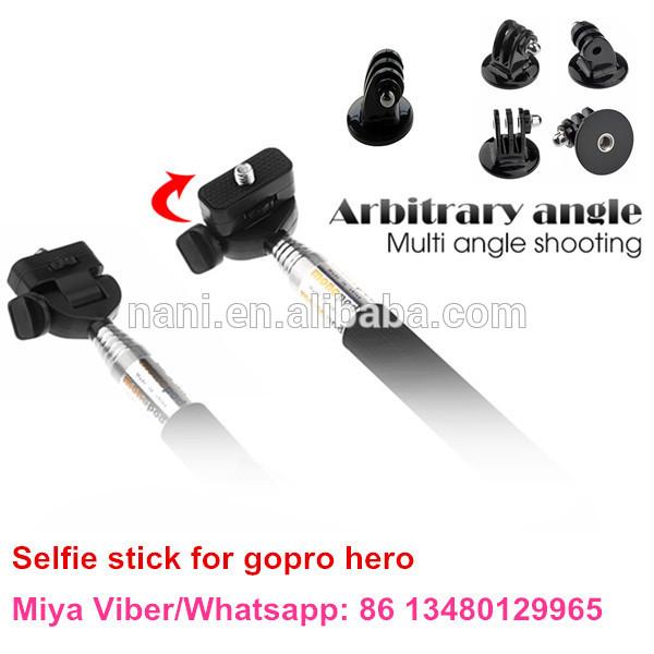 wholesale for gopro tripod selfie stick monopod tripods mount adapter for gopro hero camera hd 2. Black Bedroom Furniture Sets. Home Design Ideas
