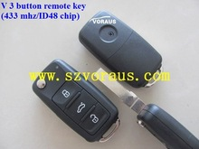 High quality V-W 5KO 837 202 AD/5KO 959 53AD 3 button remote key (433 mhz/ID48 chip) ,V-W remote key, car remote key