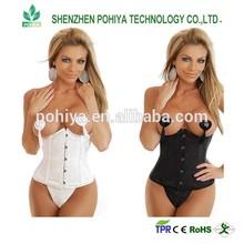 Wholesale Price leather corset waist slimming corset steel boned corset