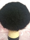 Elegant Wig Factory Price Afro Curly Indian Remy Human Hair Piece Toupee For Black Men