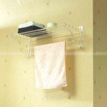 Acrylic bathroom shelf, Wall mounted Clear Acrylic Shelf, Wall mount Lucite Acrylic Towel Holder