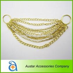 Fashion metal chain gold bikini connectors