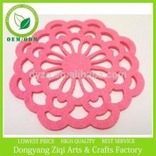 Pink flower felt placemats felt hot pink coasters