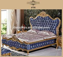 Alibaba express royal european style navy blue elgegant king size beds