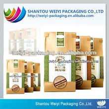 Side gusset aluminum laminated foil tea light packaging pouch