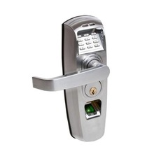 ACTUATOR SYSTEMS ACT-RC-204SC RELITOUCH BIOMETRIC AND PIN CODE HANDLE LOCK, SATIN CHROME