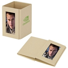 "4""x6"" Standard recycle paper photo frame,Recyclable Kraft Paper pen holder ,ECO promotion paper desk holder"