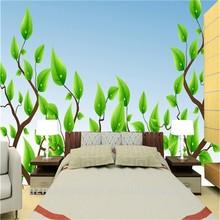 new life green leaf tree wallpaper for living room