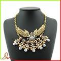 nombre de marca de acero inoxidable de moda colgante de dubai chapado en oro collar de la joyería 2015