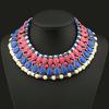 Hot Sale Alloy Resin Rhinestone Jewelry Colorful Luxury Gemstone Necklace Fashion Collar Necklace