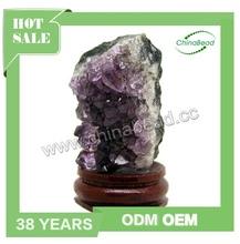 Chinese Style Mineral Specimen, Amethyst Cluster, Amethyst Quartz Crystal