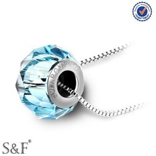 Alibaba China 2014 Crystal Necklace , Blue Color Custom Austrian Crystal Jewelry