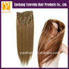 bridal hair accessories hot selling Brazilian clip In hair extension