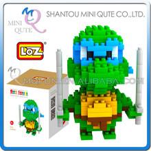 Mini Qute Ninja turtle Leonardo loz diamond nano 3D block mini figure plastic cube building blocks brick educational toy NO.9151