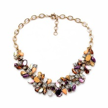 New trend irregular rhinestone necklace, multicolor jewelry crystal pendant