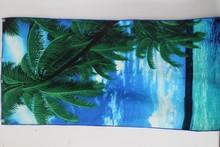 Yiwu Cheap 100 polyester microfiber beach towel in stock(reactive print)