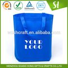 Manufacture eco reusable blue foldable non woven bag,non woven shopping bag