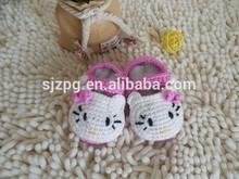 crochet baby shoes Fashion crochet knitting baby shoes Flower crochet baby girls shoes