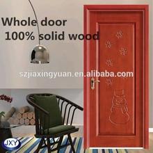 Interior Single leaf mahogany solid wood door