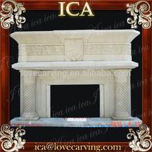 Home big polishing sandstone fireplace mantels