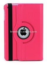 For iPad mini case,iPad mini 3 / iPad mini 2 360 Degree Rotating Multi-Angle Stand Smart Cover