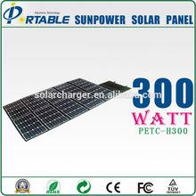 24% high efficiency foldable fabric solar panels 300w