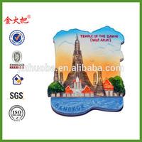 Resin Fridge Magnet Thailand Bangkok Wat Arun Rajwararam Temple Of The Dawn