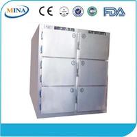 MINA-HH09C Stainless Steel 6 Body Medical Freezer Mortuary Refrigerator