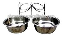 Metal bird feeder , stainless steel pet bowl , pet bowl