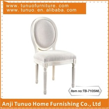 Dining chair,Louis,Antique,French,White wash finish solid wood frame and legs,TB-7105WL
