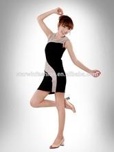 classic S shape body women bandage dress no sleeve best selling 2014