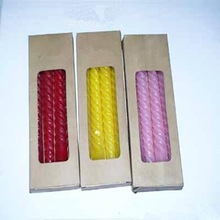 lovely colorful birthday candle with clear window gift packaging box