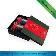 elegant cardboard Chinese green tea paper box with lid template