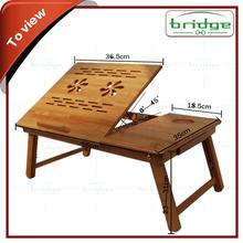 Mini bamboo portable laptop table