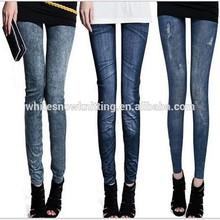 nueva moda de las señoras lápiz sexy bragas de jean mujeres pantalones vaqueros de mezclilla leggings