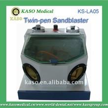 KASO Dental Portable Electric Lab Twin-pen Sandblaster KS-LA05/Fine Blasting Unit/Dental Laboratory Instrument