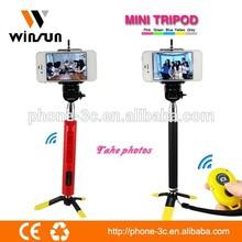 New design tripod stand, mini tripod with bluetooth remote for smart phone