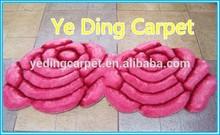 red modern design 300D Silk 3D double flower rug Carpet