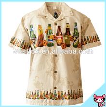 100% Cotton Bottle Printed Men Hawaiian Shirt