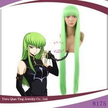long straight green Code Geass C.C beauty cosplay wig