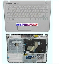 New For Samsung Q330 QX310 Laptop RU Russian Keyboard Palmrest Touchpad White