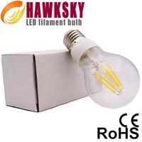 High CRI 360 degree E27 led filament bulb 4w 6w 8W warm white,Replace decorative filament light bulbs