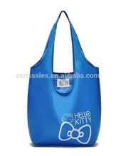 Kitten foldable shopping bags Blue environmental protection bags