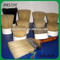 pig hair bristles for brush making,natural white/black boiled bristle