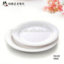 European melamine white cheap dinner disposable compartment plastic plate